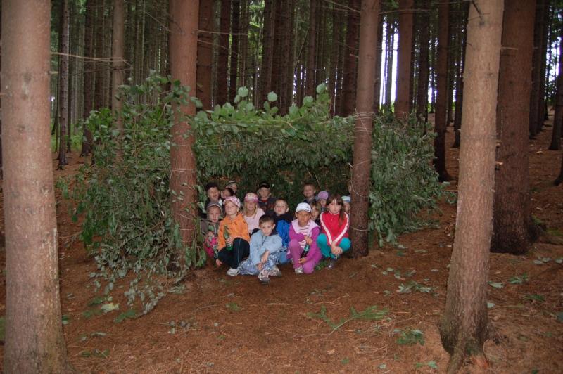 Letní tábor Kazimírka - zálesáctví