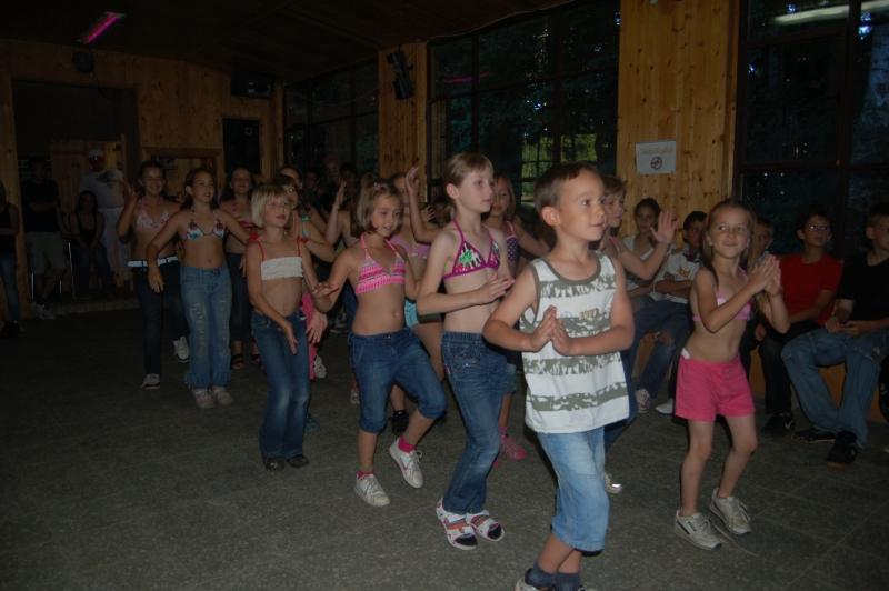 Letní tábor Kazimírka - vystoupení zumba