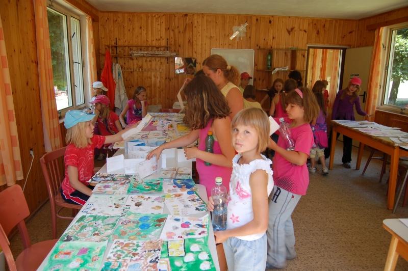 Letní tábor Kazimírka - kroužek výtvarky