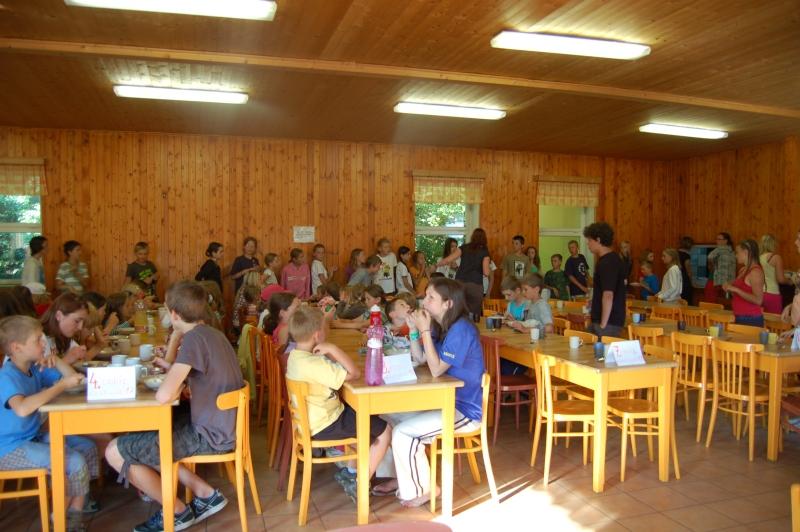 Letní tábor Kazimírka - jídelna