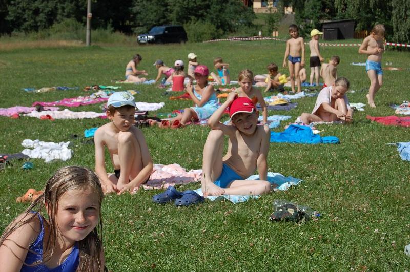 Letní tábor Kazimírka - koupání