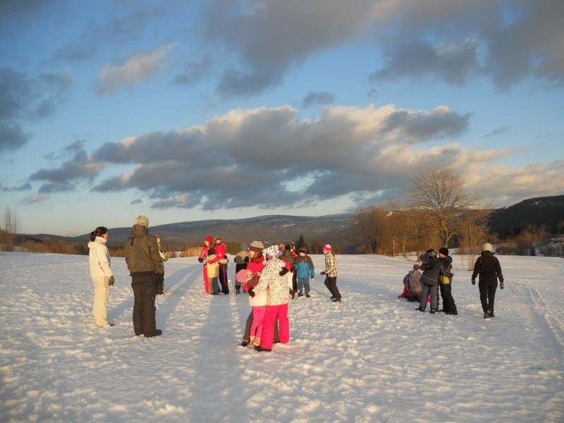 Hry na zimním táboře Kazimírka